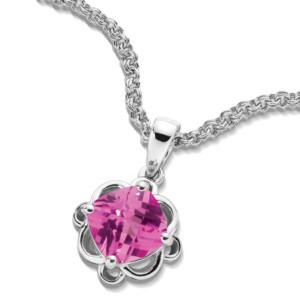 Caro74 diamond cushion halo pendant with diamond bale in 14k white pk sap pendant mozeypictures Image collections