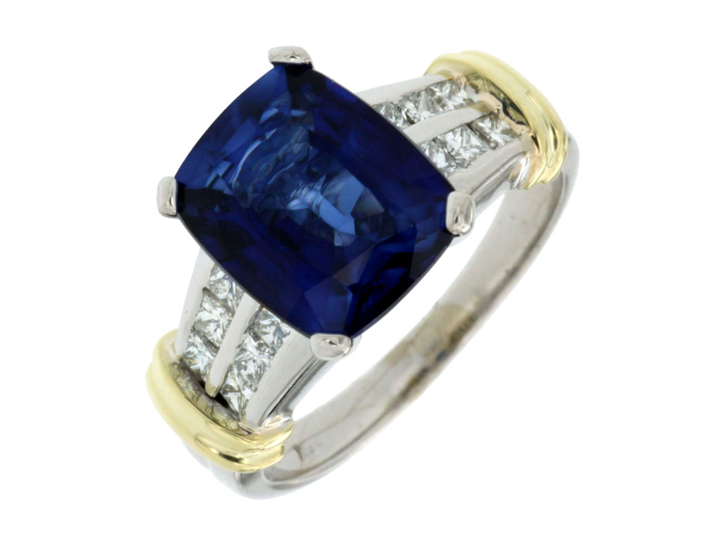 pin platinum thai kanchanaburi diffused in and liquidation star overlay blue sapphire channel ring