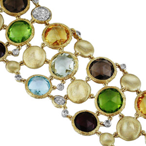 Royal Jewelers Multi-Color Semi Precious Bracelet (HC4140MJ)