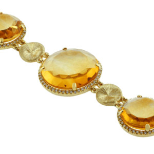 Royal Jewelers Diamond & Citrine Bracelet (HC5389CJ)