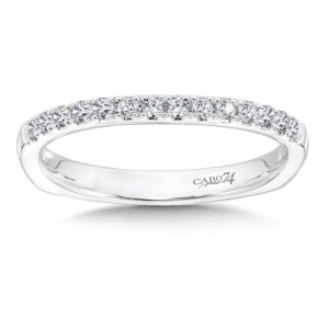 Caro74 Diamond and 14K White Gold Wedding Ring  (HCR638BWJ)