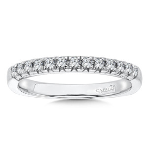 Caro74 Diamond and 14K White Gold Wedding Ring  (HCR79BWJ)