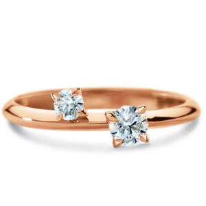 DIAMA 18k Rose Gold Swarovski Created Diamond Intimate Ring