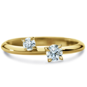 DIAMA 18k Yellow Gold Swarovski Created Diamond Intimate Ring 0002J