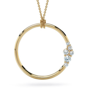 DIAMA 18k Yellow Gold Swarovski Created Diamond Glacial Necklace