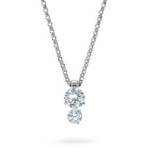 DIAMA 18k White Gold Swarovski Created Diamond Intimate Necklace