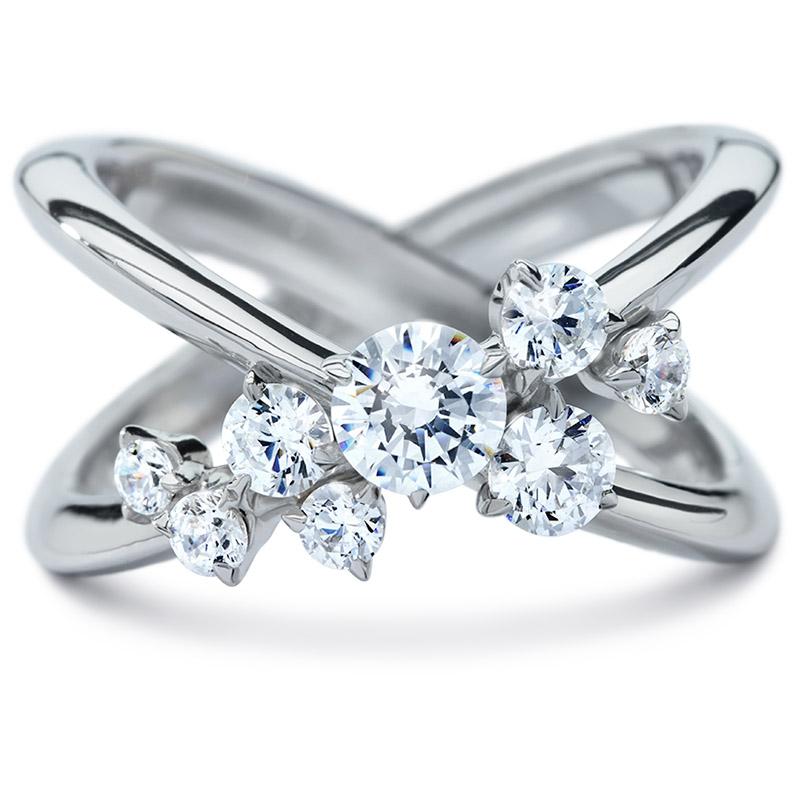 5acd7a4dadc9 DIAMA 18k White Gold Swarovski Created Diamond Encounter Ring ...