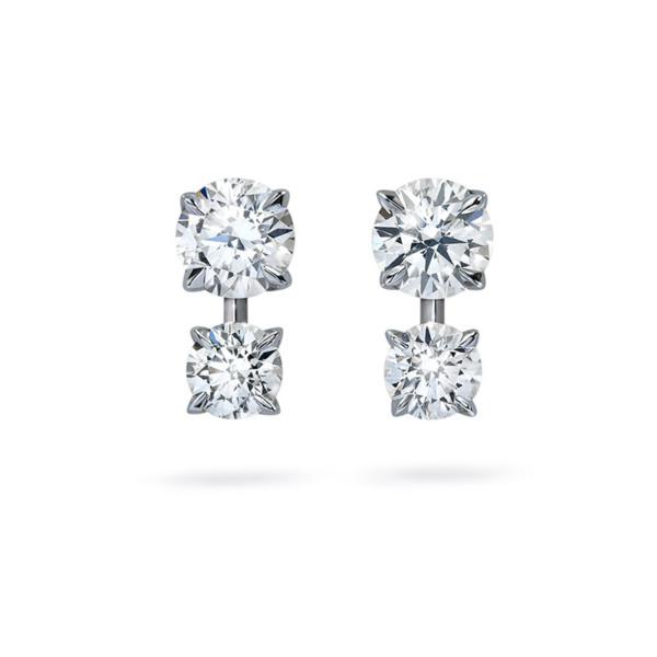 DIAMA 18k White Gold Swarovski Created Diamond Intimate Earrings 033J