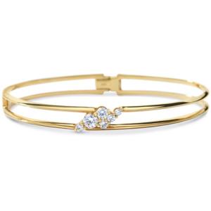 DIAMA 18k Yellow Gold Swarovski Created Diamond Glacial Bracelet