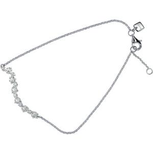 DIAMA 18k White Gold Swarovski Created Diamond Signature Bracelet 036J