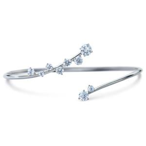 DIAMA 18k White Gold Swarovski Created Diamond Signature Bracelet