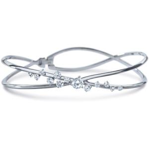 DIAMA 18k White Gold Swarovski Created Diamond Encounter Bracelet