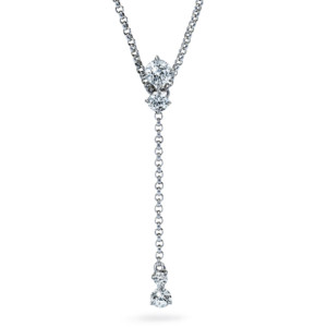 DIAMA 18k White Gold Swarovski Created Diamond Intimate Necklace 039J