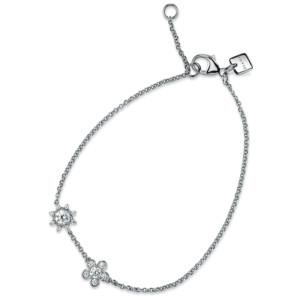 DIAMA 18k White Gold Swarovski Created Diamond Bloom Bracelet