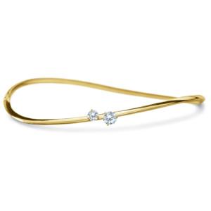 DIAMA 18k Yellow Gold Swarovski Created Diamond Intimate Bracelet