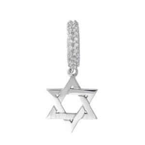 Petra Azar Silver Star of David Charm