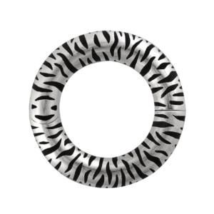 Petra Azar Circle of Love Sterling Silver Zebra Print Pendant