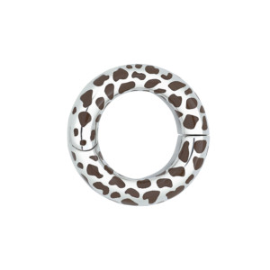 Petra Azar Circle of Love Sterling Silver Cheetah Pendant