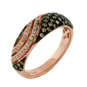 Royal Jewelers Diamond & Mocha Wedding Ring (HPC5585VJ)