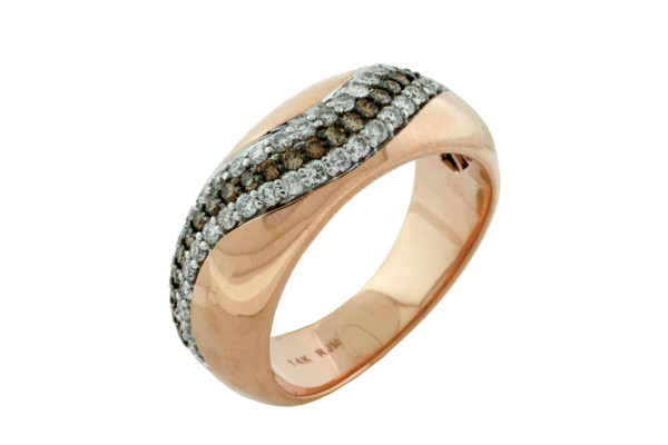 Royal Jewelers Diamond & Mocha Diamond Wedding Ring (HPC5647VJ)