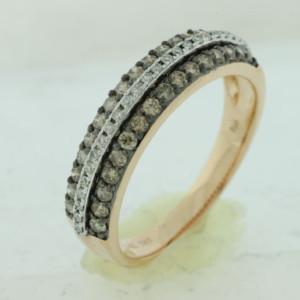 Royal Jewelers Diamond & Mocha Wedding Band (HPC5681VJ)