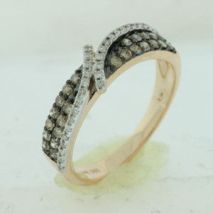 Royal Jewelers Diamond & Mocha Wedding Band (HPC5683VJ)