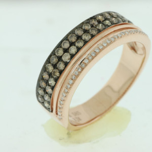 Royal Jewelers Diamond & Mocha Wedding Band (HPC5807VJ)
