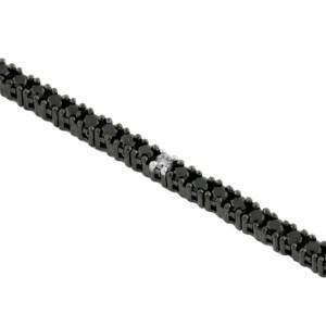 Royal Jewelers Black Diamond & Diamond Bracelet (HWC4371BJ)
