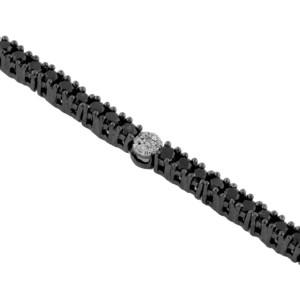 Royal Jewelers Black Diamond & Diamond Bracelet (HWC4372BJ)