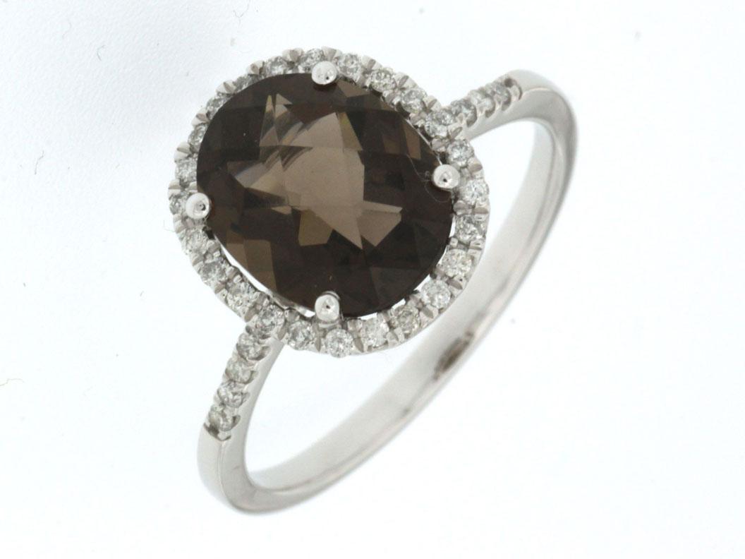 Royal Jewelers Diamond Smoke Topaz Ring Hwc4522vj Hannoush