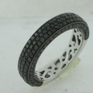 Royal Jewelers Black Diamond Wedding Ring (HWC5391BJ)