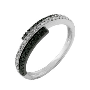 Royal Jewelers Diamond & Black Diamond Wedding Ring (HWC5462BJ)