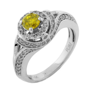 Royal Jewelers Diamond & Yellow Diamond Engagement Ring (HWC5520YJ)