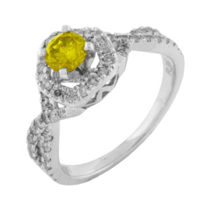 Royal Jewelers Diamond & Yellow Diamond Engagement Ring (HWC5521YJ)