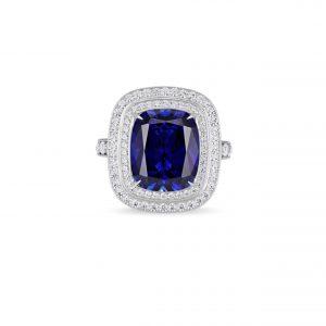 Atelier Swarovski Angel Double Halo Ring, Swarovski Created Sapphire