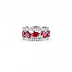 Atelier Swarovski Lola Wide Band Ring, Swarovski Created Rubies