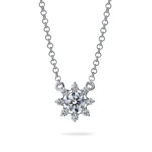 Atelier Swarovski Bloom Pointed Necklace, Swarovski Created Diamonds