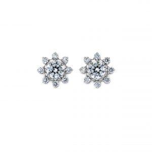 Atelier Swarovski Bloom Pointed Stud Earrings, Swarovski Created Diamonds