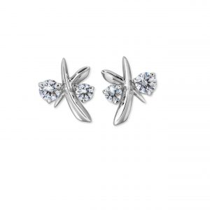 Atelier Swarovski Encounter Stud Earrings, 18k White Gold