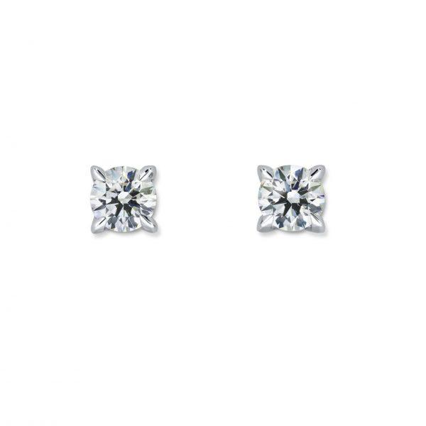 Atelier Swarovski Essentials 1/2 CT Stud Earrings, 18K White Gold