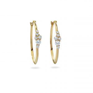 Atelier Swarovski Glacial Hoop Earrings, Swarovski Created Diamonds