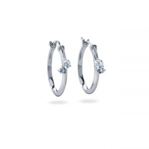 Atelier Swarovski Intimate Hoop Earrings, Swarovski Created Diamonds