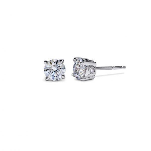 Atelier Swarovski Essentials 1/4 CT Stud Earrings, 18K White Gold