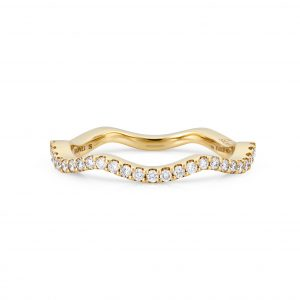 Atelier Swarovski Arc-en-ciel Thin Band Ring, 18k Yellow Gold