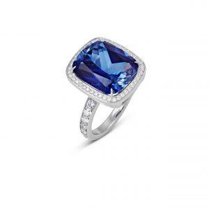 Atelier Swarovski Angel Halo Ring, Swarovski Created Sapphire