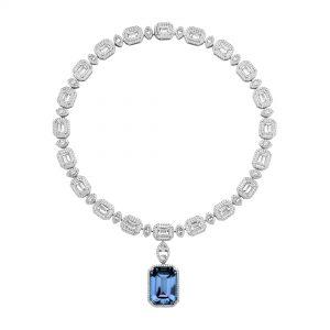 Atelier Swarovski Angel Necklace, Swarovski Created Sapphire