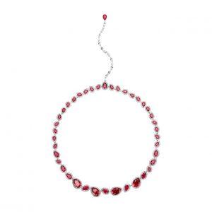Atelier Swarovski Lola Necklace, Swarovski Created Rubies