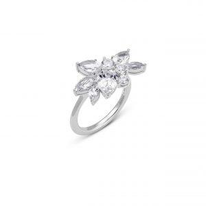 Atelier Swarovski Luna Cluster Ring, Swarovski Created Diamonds