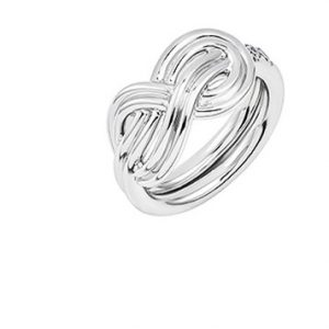 Atelier Swarovski Knot of True Love Interlaced Ring