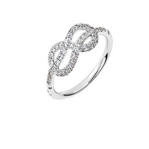Atelier Swarovski Knot of True Love Mini Pave Ring